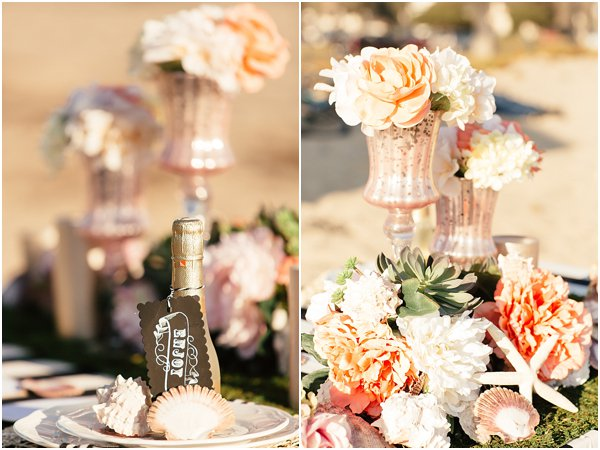 Seashells and stripes styled wedding on beach California by POPography.org_380