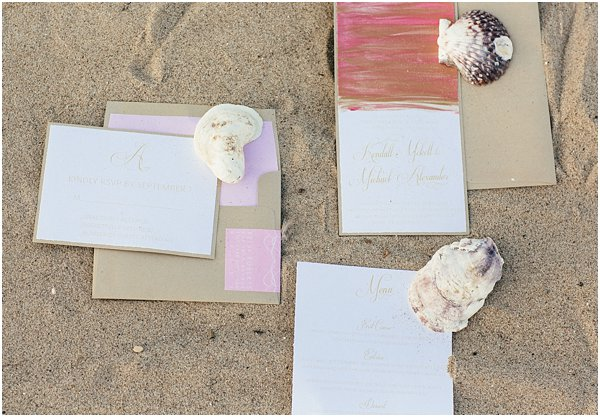 Seashells and stripes styled wedding on beach California by POPography.org_382