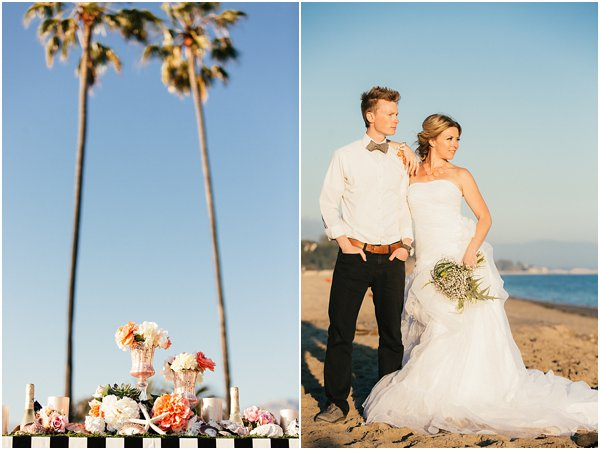 Seashells and stripes styled wedding on beach California by POPography.org_383