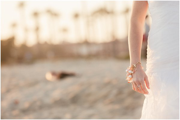Seashells and stripes styled wedding on beach California by POPography.org_398