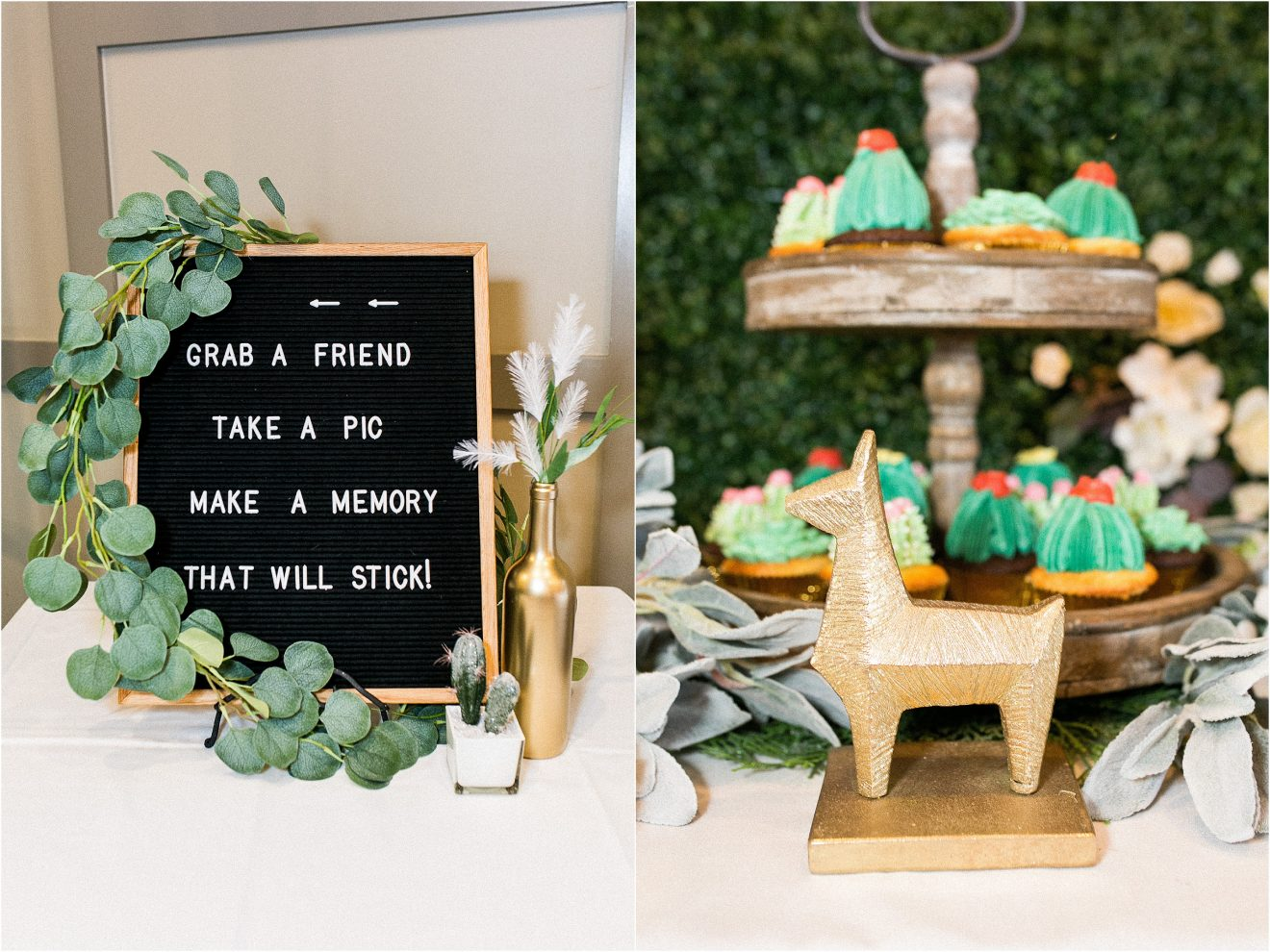 Succulent And Cactus Baby Shower In Green And Blush Popography