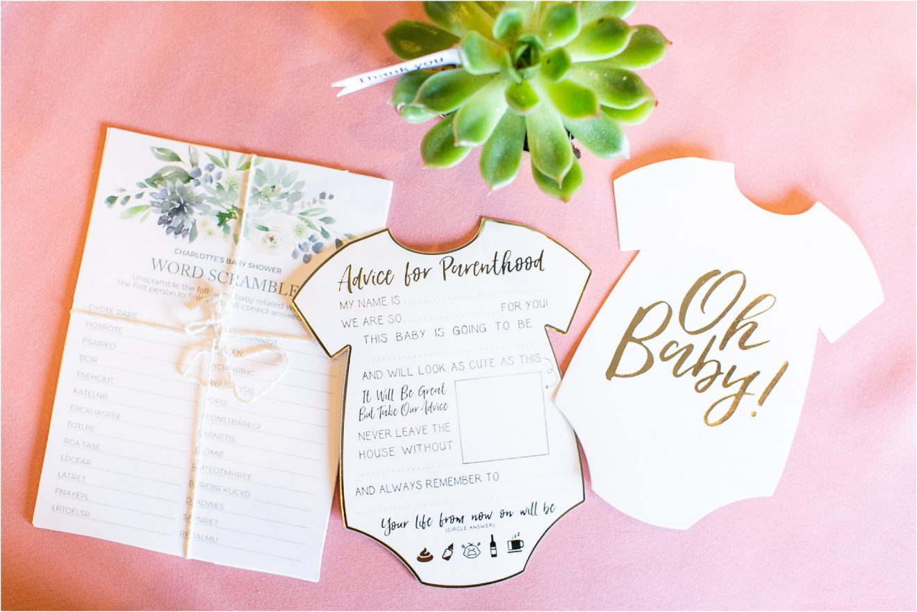 Succulent and Cactus Baby Shower in Green and Blush - Popography